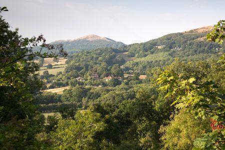 Landscape of Malvern Hills, England; UK