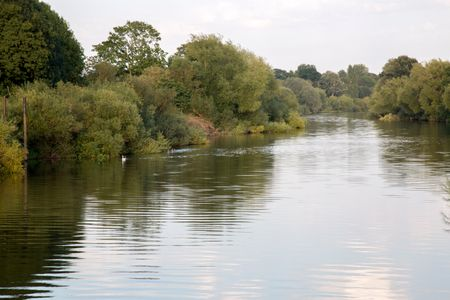 River at Upton upon Severn; England; UK