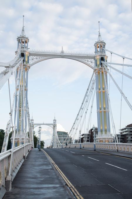 Albert Bridge Road; Chelsea; London; England; UK