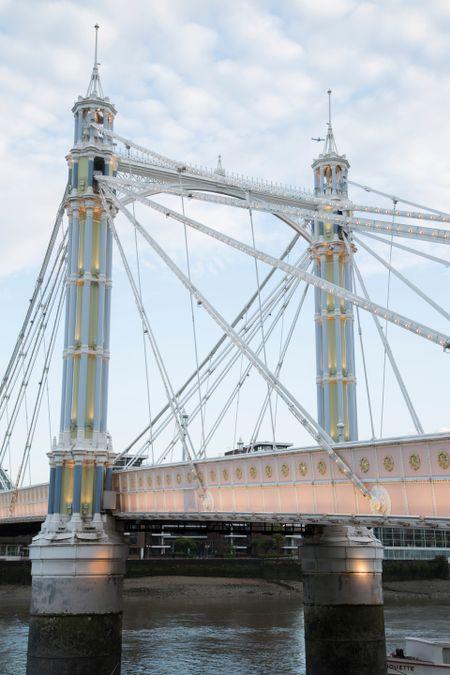 Albert Bridge; Chelsea; London; England; UK