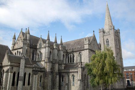 St Patricks Cathedral Facade; Dublin; Ireland