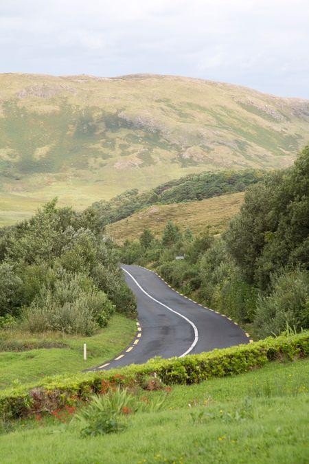 Open Road near Killary Fjord; Connemara National Park; Ireland