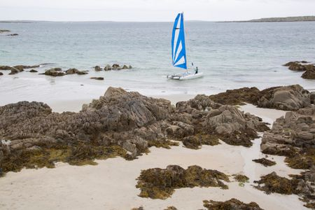 Sailing at Dog's Bay, Roundstone; Connemara; Galway; Ireland