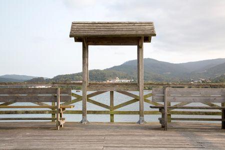 Riverside Pier Walk, Galicia, Spain