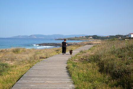 Walkway at Beach; Galicia; Spain
