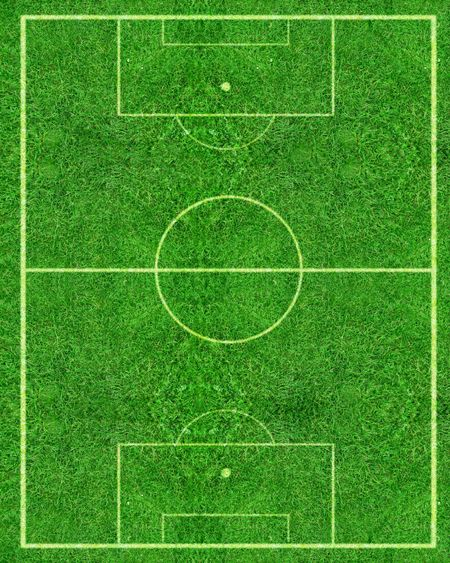 football by a football pitch