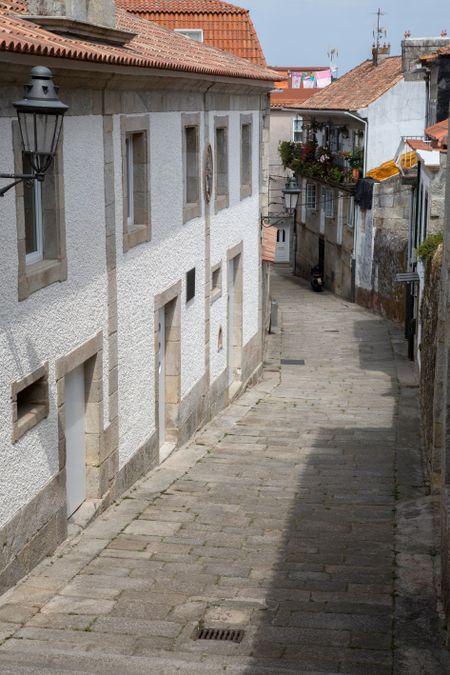 Empty Street; Bayona; Galicia; Spain