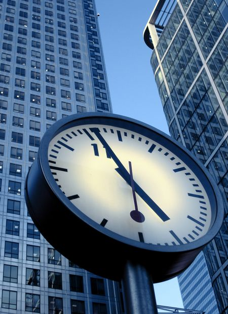 clock in a corporate environment