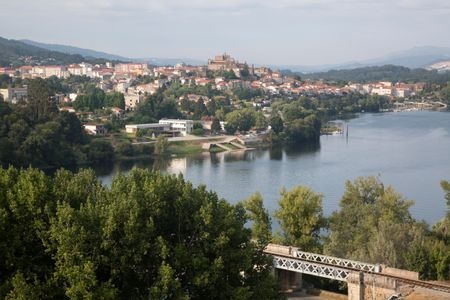 International Bridge and City of Tuy; Galicia, Spain
