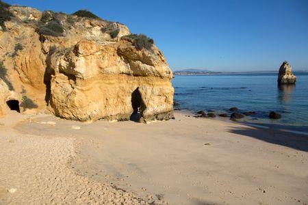Cliff at Camilo Beach, Lagos, Algarve, Portugal