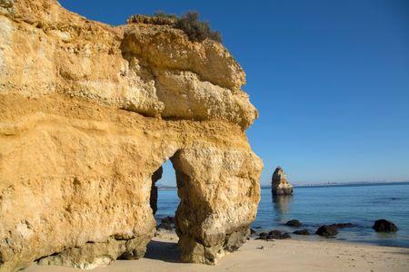Cliff at Beach, Algarve, Portugal