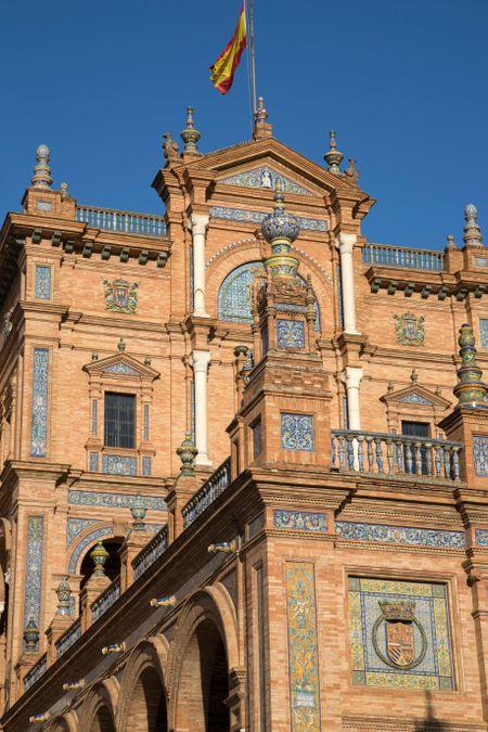 Plaza de Espana Square; Seville; Spain