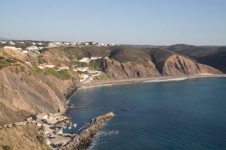 Arrifana Beach and Port; Algarve; Portugal; Europe