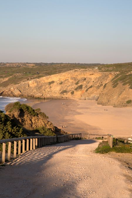 Cliff and Beach at Monte Clerigo, Portugal