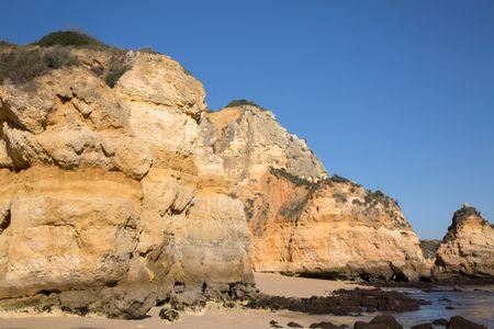 Cliff at Camilo Beach, Lagos; Algarve; Portugal; Europe