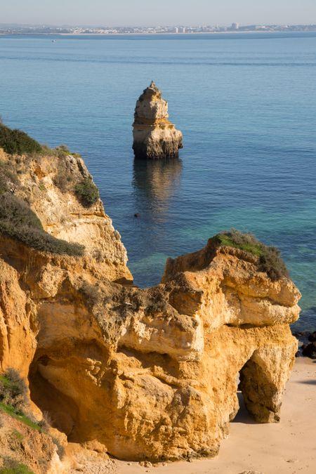 Camilo Beach Cove; Lagos; Algarve; Portugal