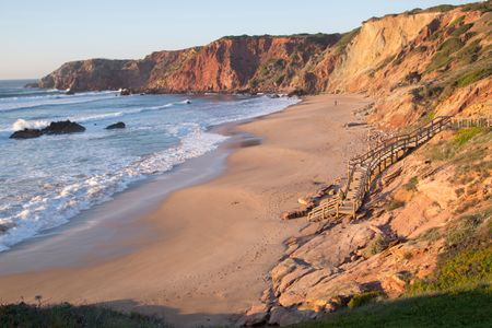 Cliffs at Dusk at Amado  Beach; Algarve; Portugal; Europe
