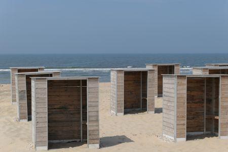 Katwijk an zee at the dutch north sea coast