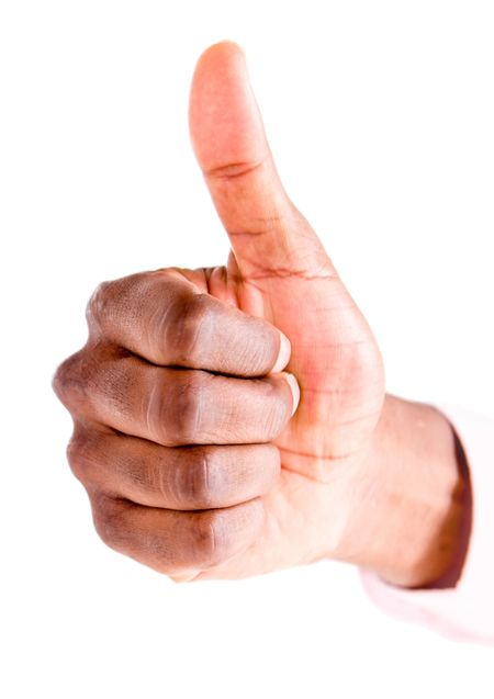 Thumbs up - isolated over a white background