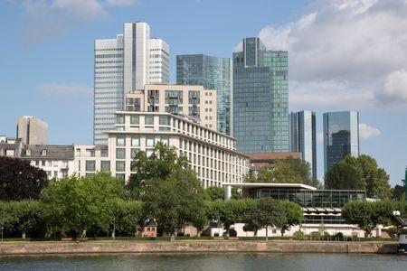 Office Skyline in Frankfurt; Germany