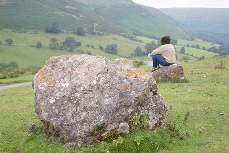 View of Gospel Pass, Wales, UK