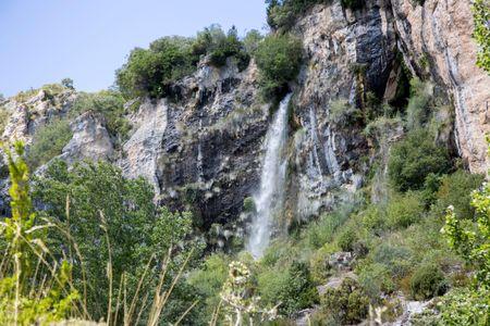 Waterfall in Tobera, Frias; Burgos; Spain