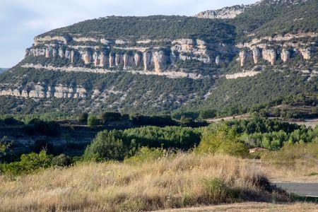 View of Peaks at Pesquera de Ebro; Burgos; Spain