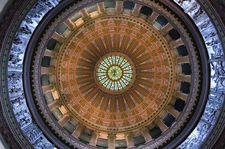Interior view, rotunda of state capitol building in Springfield, Illinois