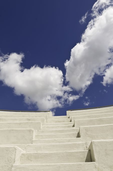 Stairway to the sky -- conceptual shot for themes of success and achievement, self-improvement, and the near future