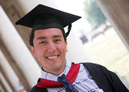 happy university graduate