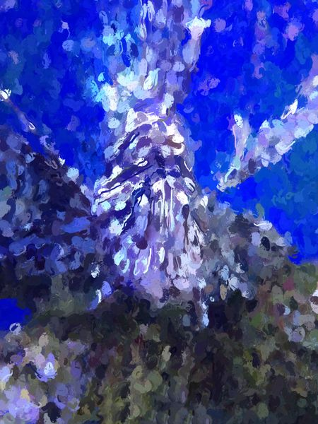 Painterly abstract of a lionfish, in the style of French impressionist Claude Monet
