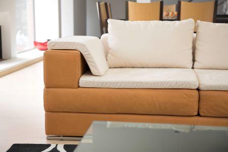 beautiful sofa in a modern living room