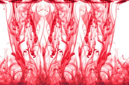 Abstract red ink