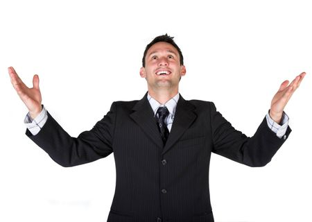 business man over white background