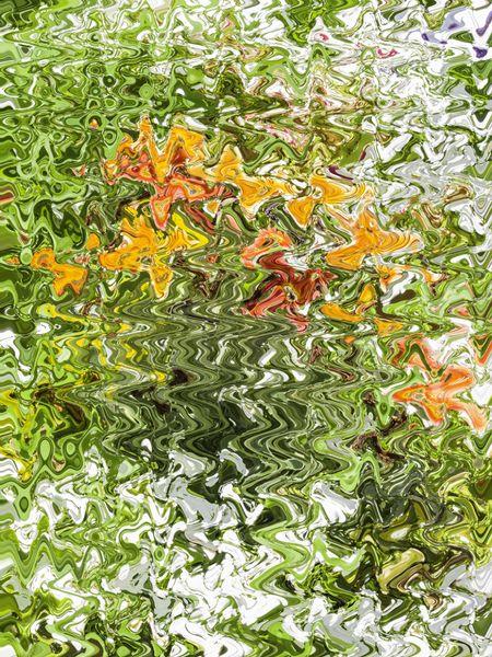 Flower garden metamorphic abstract