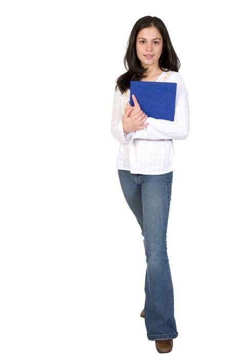female student - full body over white
