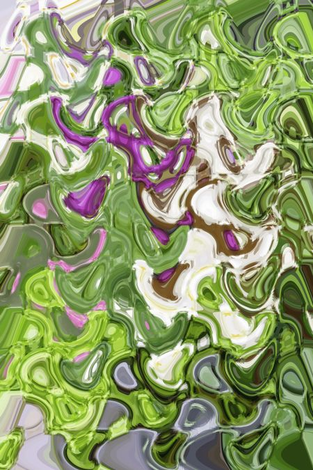 Abstract floral arrangement in spring