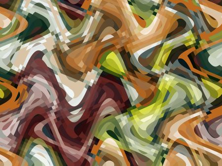 Warm abstract illustration with overlapping waves