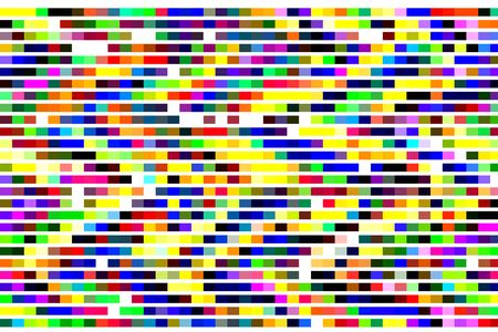 Bold abstract background with parallel bands of color on white background