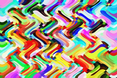 Bold multicolored wavy abstract