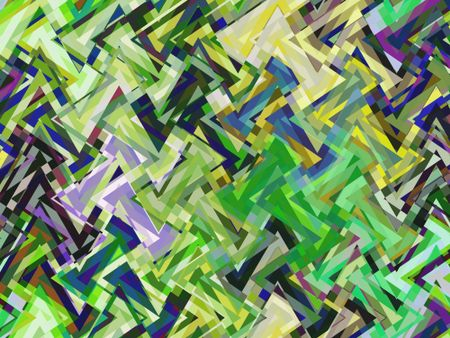 Complex abstract of multiplicity, with many multicolored overlapping triangles