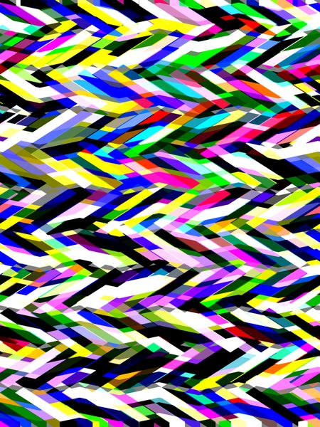 Bold abstract with multicolored zigzags