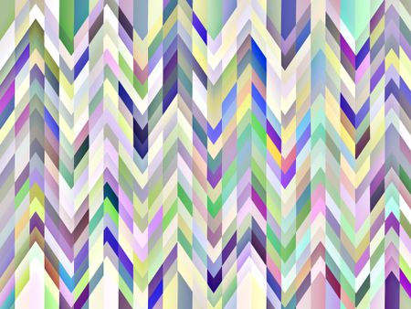 Kaleidoscopic abstract with multicolored zigzags and stripes
