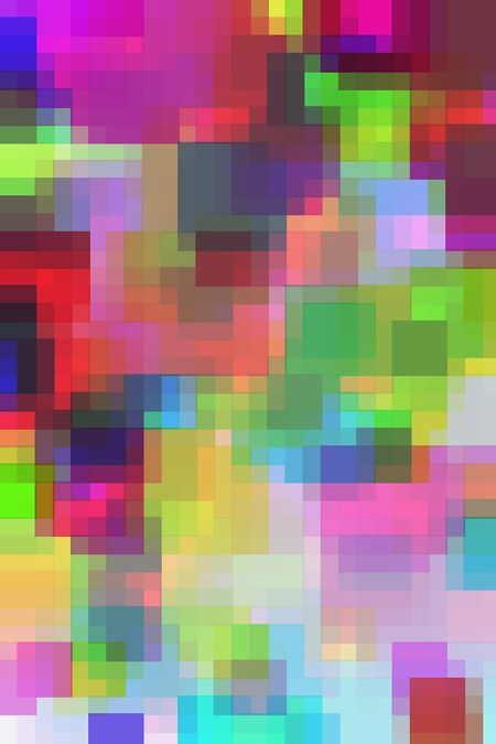 Multicolored abstract of overlapping rectangles with a modernistic, three-dimensional effect