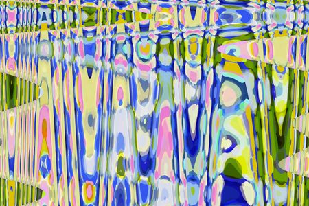 Psychedelic abstract with accordion effect