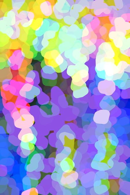 Bright multicolored abstract illustration with subtle three-dimensional effect for holiday, urban, celebratory, and other themes
