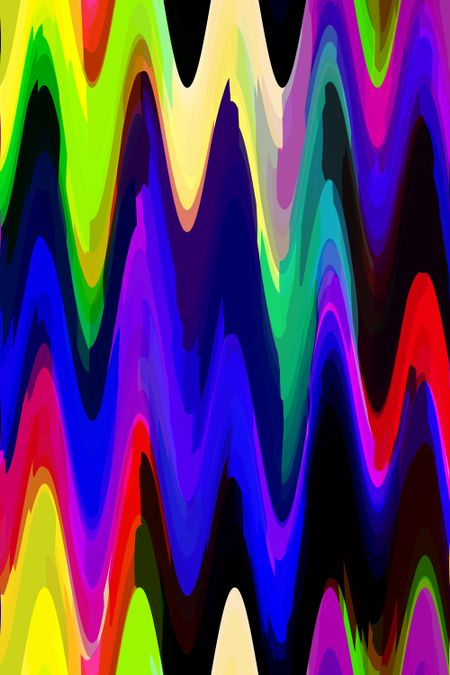 Bold multicolored abstract of steep sine waves