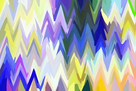 Parti-colored zigzag abstract illustration with pointed peaks