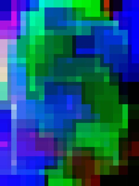 Complex rectilinear multicolored abstract