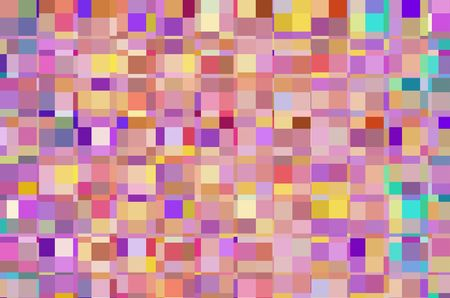Kaleidoscopic mosaic abstract with a grid of squares that contain rectangles of various colors for a look of urban multiplicity